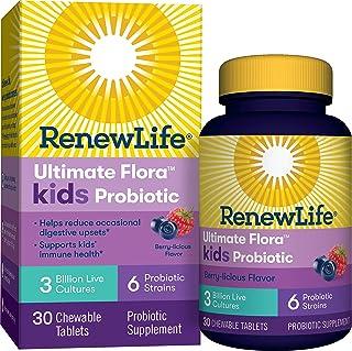Ultimate Flora Kids Probiotic Supplement, Chewable Tablets Berry 30 ea