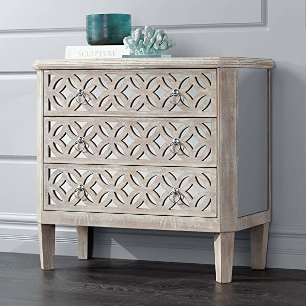 Charly 33 1 4 Wide Natural Whitewash 3 Drawer Accent Chest 55 Downing Street