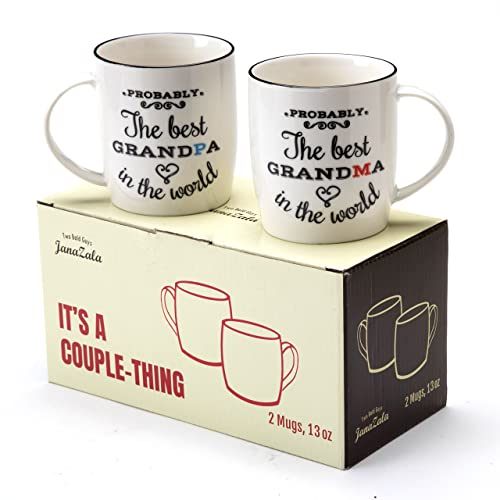 Janazala Probably The Best Grandparents Ever Coffee Mugs Funny Wedding Anniversary And Birthday Gifts For