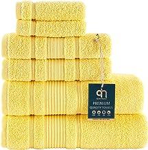 Qute Home 6-Piece Bath Towels Set, 100% Turkish Cotton Premium Quality Bathroom Towels, Soft and Absorbent Turkish Towels,...