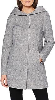 Vero Moda Vmverodona Ls Jacket Noos Manteau, Gris (Light Grey Mélange Light Grey Mélange), 44 (Taille Fabricant: X-Large) ...