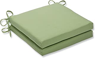 Pillow Perfect Outdoor/Indoor Tweed Lime Squared Corners Seat Cushion 20x20x3 (Set of 2)