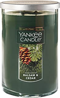 Yankee Candle Large 2-Wick Tumbler Candle, Balsam & Cedar