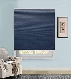 Rama Rose Cordless Cellular Shades Blackout Pleated Fabric Honeycomb Window Blinds, 46