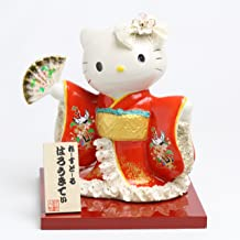 取寄品:1週間前後 和装 ハローキティ 陶製レースドール デラックス 【 陶器 人形 】