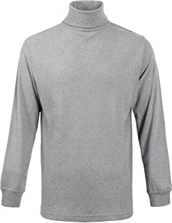 Men's Turtleneck Long Sleeve Thermal Underwear Sweater Mock Turtleneck Base Layer Shirt for Men