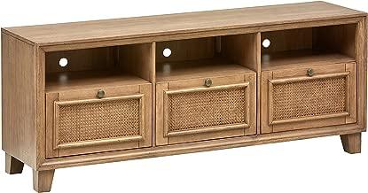 Stone & Beam Bruckner Casual Wood Media Table, 64W, Brown