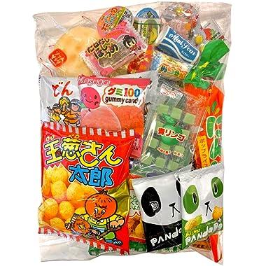 Samurai Dagashi Set, Japanese Snack Assort 36pcs, 14.49oz/410g