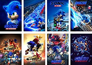 Sonic the Hedgehog The Movie CANVAS PRINT Wall Art Poster Kids CA1263