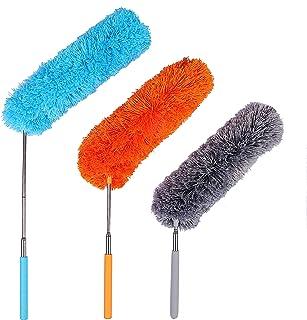 Plumero de Microfibra, Plumeros de Limpieza con Poste Extensible Flexible para Hogar Oficina y Coches 3set