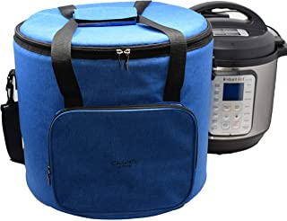 Chloe's Home Travel Bag for Instant Pot (8QT Royal Blue) – Versatile Tote Bag For Small Appliances & More With Carrying Strap, Handles & External Zip Pocket- Instant Pot Accessories For Traveling