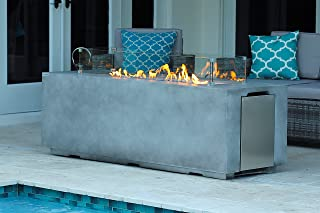 outdoor bar height fire table