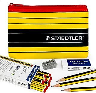 Staedtler - Noris 120 - Premium Set - Graphite Pencils, Mars Eraser, Metal Sharpener, and Pencil Case