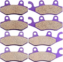 TUPARTS Front and Rear Brake Pads FA135 FA165 Fit for 1993-1999 Kawasaki Bayou 400 2006-2012 Kawasaki Brute Force 650 2005-2012 Kawasaki Brute Force 750