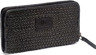 NOMAD LEDER. Grande portafoglio da donna in pelle con porta banconote, portamonete e porta carte con protezione RFID e con...