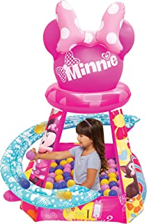 Minnie Mouse Big Heart & Bows Ball Pit, 1 Inflatable & 50 Sof-Flex Balls, Pink, 43