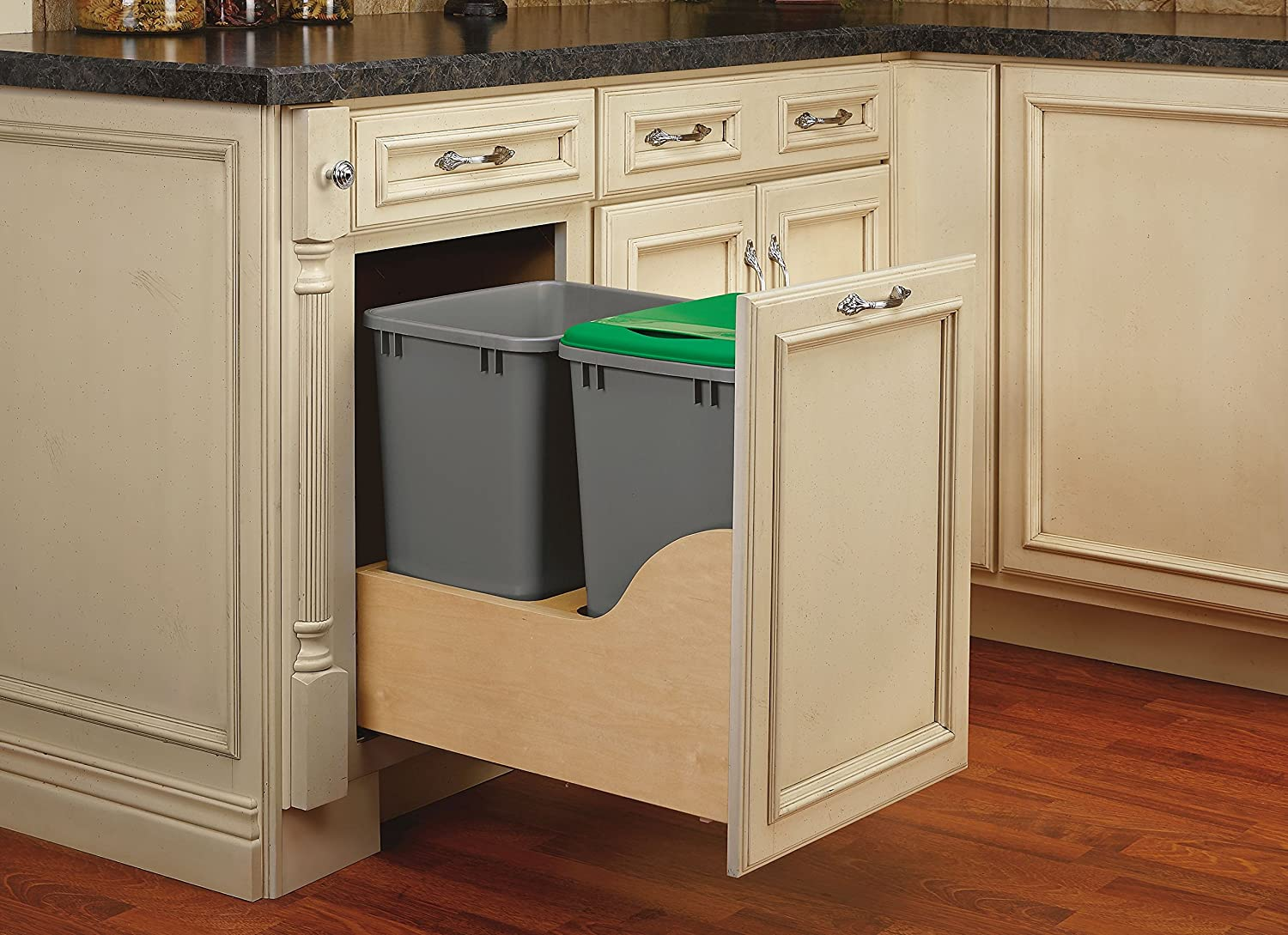 Rev-A-Shelf Servo Double 35 Sale SALE% Max 57% OFF OFF Qrt Standa Pull-Out Waste Container