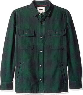 Marca Amazon - Goodthreads - Chaqueta de estilo camisa de franela muy resistente para hombre