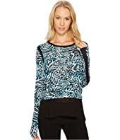 MICHAEL Michael Kors - Big Cat Woven Combo Top