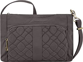 Travelon Anti-theft Signature Quilted E/W Slim Bag, Smoke
