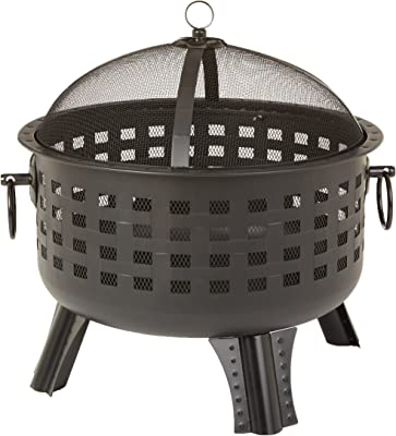 Amazon Basics 23.5 Inch Steel Lattice Fire Pit