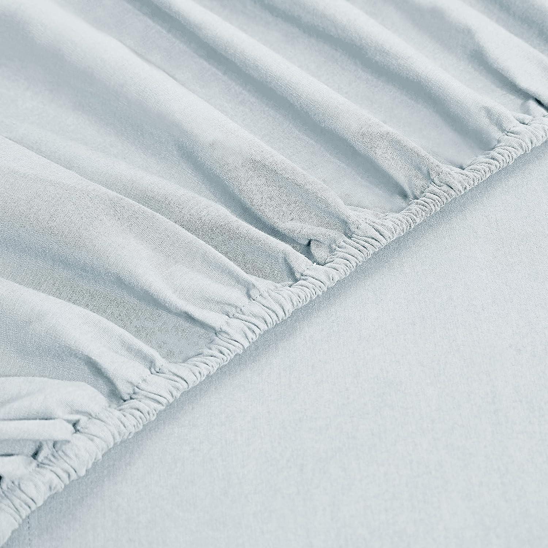 Basics Brushed Percale Cotton Bed Sheet Set Twin Infinity Stripe