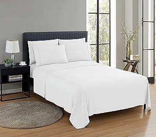Nestl Saniwoven Bed Sheet Set with Silvadur Technology | 4 Piece Soft Microfiber Sheet Set | Queen Fitted Sheet, Flat Shee...