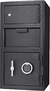 Barska AX13310 Digital Keypad Locker Depository Drop Safe 0.72/0.78 Cubic Ft, Black