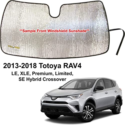 2021 YelloPro Auto Custom Fit Car Front Windshield outlet online sale Reflective Sunshade Protector for 2013 2014 2015 2016 2017 2018 Toyota RAV4 sale LE XLE Premium Hybrid Crossover, Sun Shade Accessories, Made in USA outlet sale