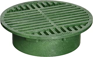 NDS 20 Plastic Round Grate, 8-Inch, Green