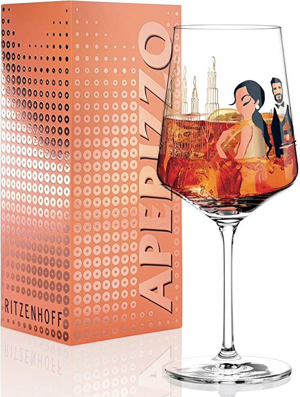 Ritzenhoff Aperizzo Aperitif Glass By Andrea Arnolt Crystal Glass 600ml With Elegant Gold Sides