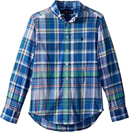 Polo Ralph Lauren Kids - Cotton Madras Shirt (Big Kids)