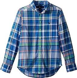 Polo Ralph Lauren Kids - Cotton Madras Shirt (Big Kids)