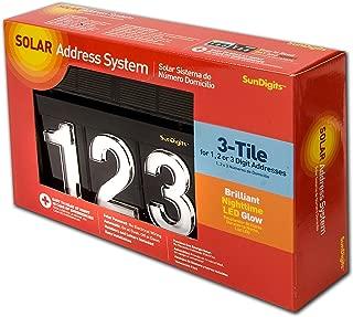Sundigits 3 Digit Solar Led House Numbers