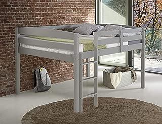 Concord Junior Loft Bed, Full, Grey