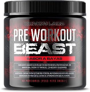 comprar comparacion Pre Workout Beast (Sabor Frutas del Bosque) - Suplemento Potente pre-Entreno con Creatina, Cafeína, Beta-Alanina y Glutami...