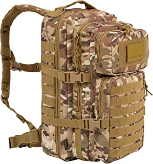 Recon 28L Military Tactical Assault Multi-Functional Tough Waterproof Backpack – Army Combat Cadets Travel Adult Daypack -...