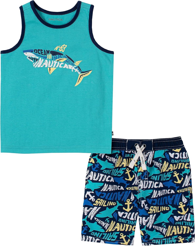 Nautica Baby Boys' 2 Pieces Tank Top with Swim Shorts Set