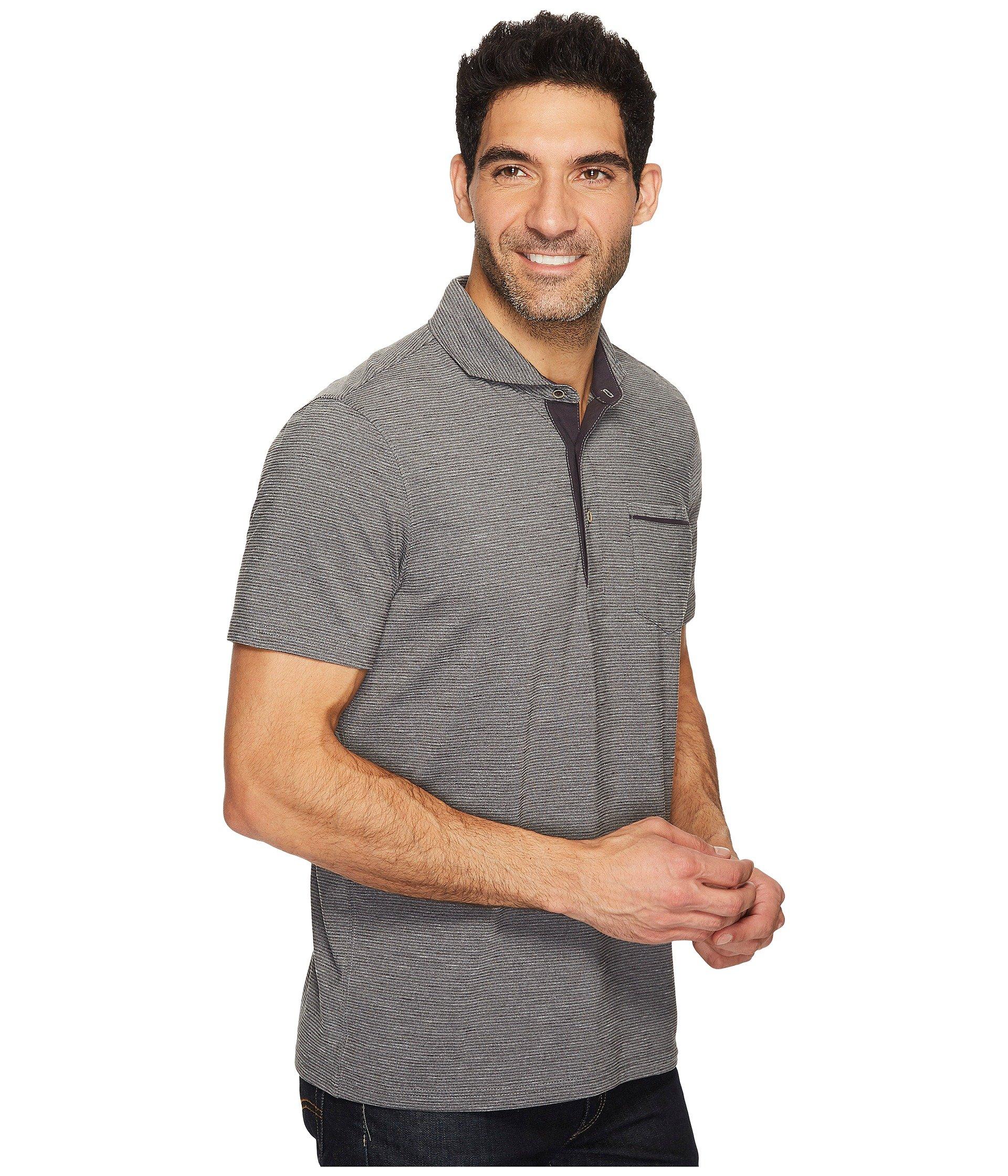 Prana Short Pacer Sleeve Polo Charcoal wxxnaUBq7v