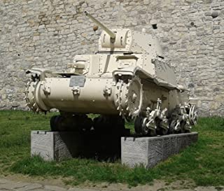 Home Comforts Panzer (M13-40 Carro Armato) in der frei zugÌ_nglichen Ì_uÌÙeren Ausstellung des MilitÌ_rmuseums Bel Vivid Imagery Laminated Poster Print 24 x 36