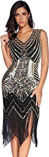 meilun Women's 1920s Sequined Inspired Beaded Gatsby Flapper Dress
