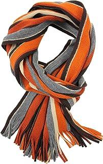 Scarf Strickschal Raschelschal Uni Fashion Blue Real 100% Wool Merino R-95