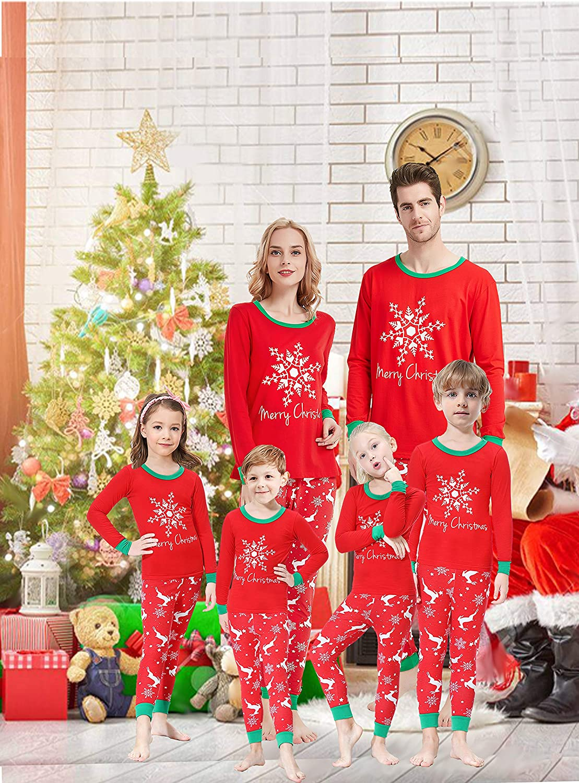 Matching Family Pajamas Christmas Boys and Girls Pyjamas 2 Piece PJs for Mum and Me