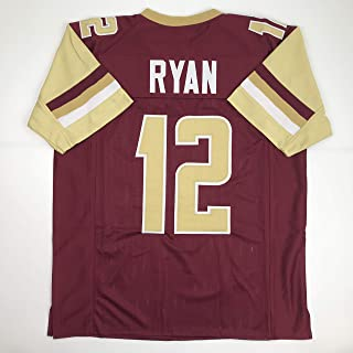 Unsigned Matt Ryan Boston College Maroon College Custom Stitched Football Jersey Size Men`s XL New No Brands/Logos