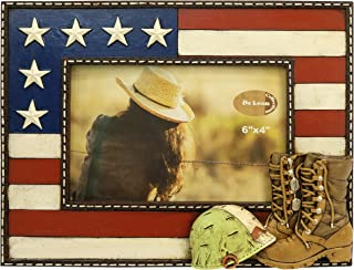LL Home US Military Boots 4X6 Photo Frame