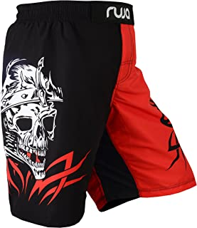 Ruja Men's Pro Skull and Fire Graphic MMA Boxing Wrestling and Training Shorts