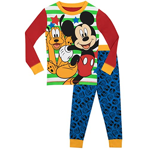 cae224e7f Disney Boys Mickey Mouse Pluto Pyjamas - Snuggle Fit - Ages 18 Months to 8  Years