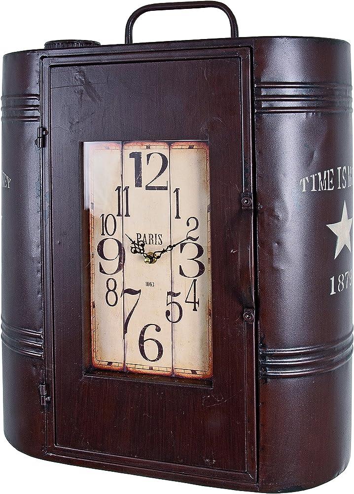 haku möbel,pensile in metallo,con orologio integrato 27964