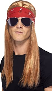 Smiffy's Men's 90's Rocker Kit, Wig, Bandana and Sunglasses, One Size, Colour: Mixed, 22405