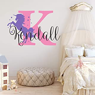personalized unicorn wall decal